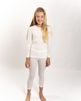 Kids Pure Wool Thermal Leggings