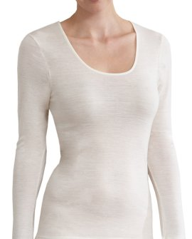 Thermal Underwear - Pure Merino Wool 200gsm Long Sleeve Ivory