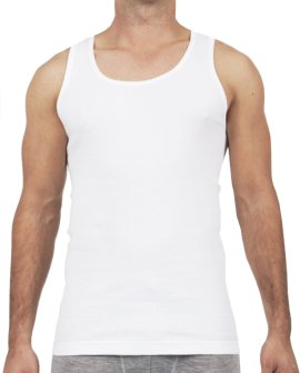 Thermal Underwear Mens Pure Merino Wool Tank Ivory