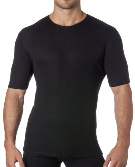 Thermal Underwear Mens Pure Merino Wool Tshirt