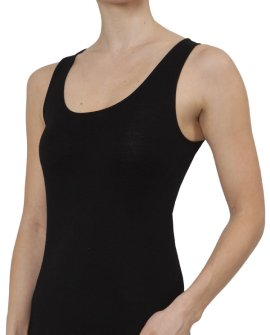 Thermal Underwear - Pure Merino Wool 200gsm Vest (Black)