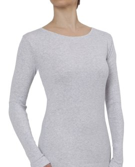 Soft Organic Cotton Long Sleeve - Grey Marle