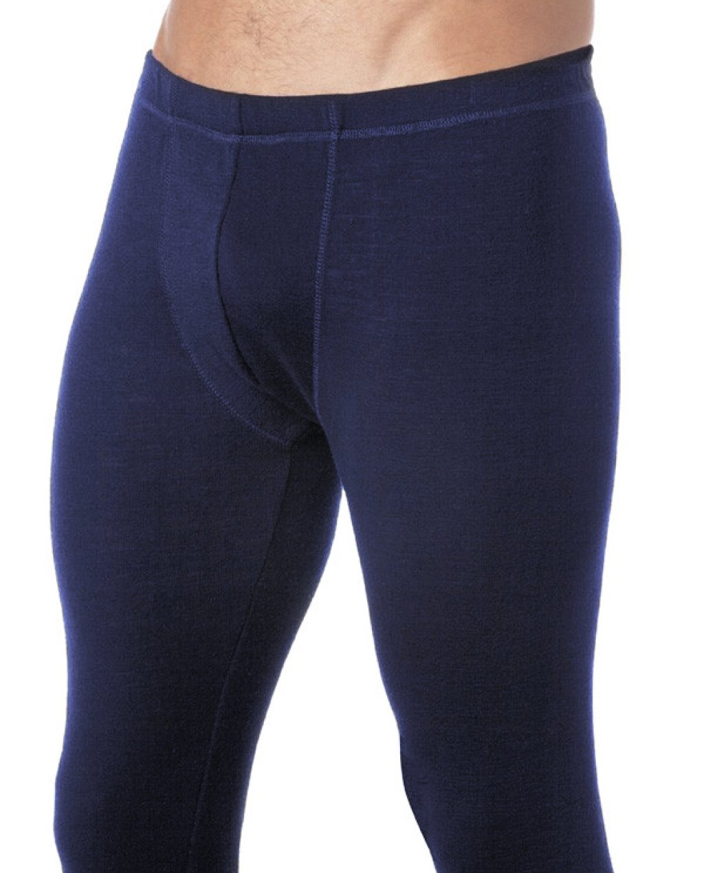 Thermal Underwear Mens Pure Merino Wool Long John Navy