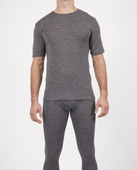 Mens Wool Blend Thermal Tshirt