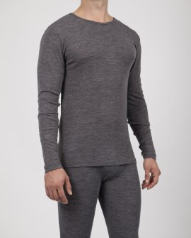 Mens Wool Blend Thermal Long Sleeve